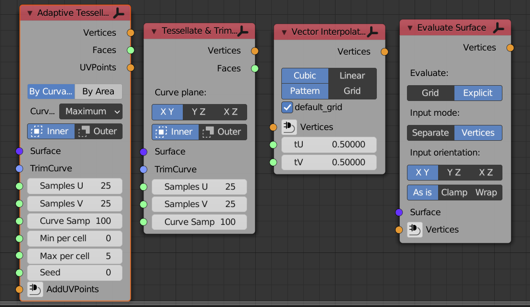wrapping tools for mesh/surfaces/curves